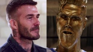 James Corden legt David Beckham mit hässlicher Statue rein