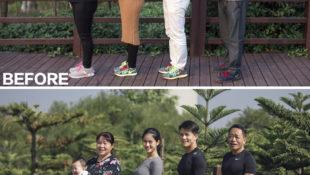 So sieht diese Chinesische Familie nach 6 Monaten Sport aus!