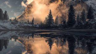 Dolomiten, das rosa Gebirge