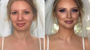 Die Kraft von Schminke: 11 Bräute vor und nach dem Hochzeits-Make-up