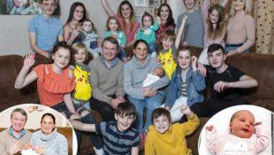 Eine irre große Großfamilie: 43-jährige Mutter bringt ihr 21. Kind zur Welt und ist überglücklich
